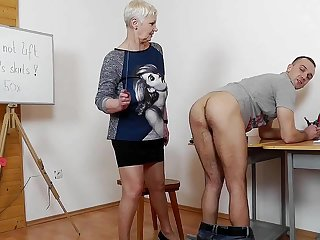 Experienced Female Teacher Punishes Handsome Guy