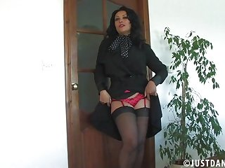 Solo old cunt Danica Collins moans after a long time playing with say no to fingers