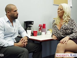 Bodacious sex teacher Alura Jenson gets her brashness and pussy rammed