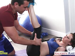 Razor-sharp athletic girl Kendra Khaleesi is fucked by hot blooded coach