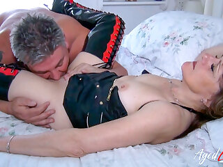 AgedLovE British Mature Fucked Roughly coupled with Hard