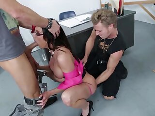 Busty nerdy MILF in sexy stuff Kendra Have a yen for is hammered by two studs