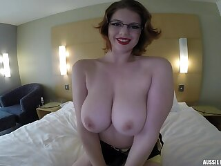 Ellie Zena hot breasty mollycoddle first blowjob video