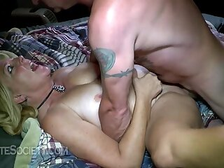 Forbidden MILF with big pair in hot adult clip
