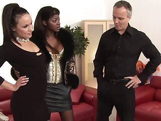 Hardcore interracial foursome with Jasmine Webb and Lucie Love