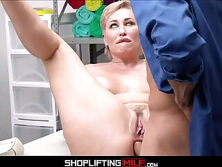 Blonde Big Tits MILF Shoplifter Ryan Keely Anal Fucked To Multiple Orgasms Apart from Officer
