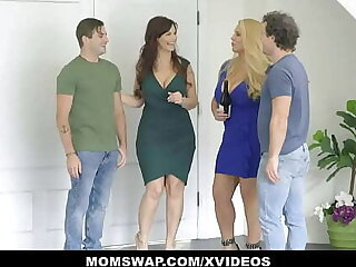 Lustful Curvy Stepmoms Karen Fisher And Syren De Mer Teach StepSons At hand Sex