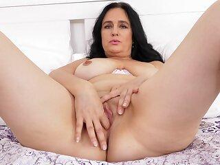 Mature brunette Ria Black uses fingers in an effort to cum hard