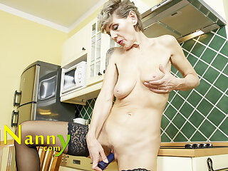 OldNannY European Mature Solo Play Closeps and Seductive Poses and Toying