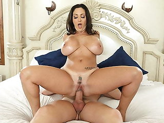 Stepmom has huge titties and son loves it! - Ava Addams