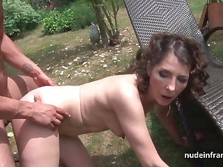 Mature analized hard by the taxi postilion after masturbation in motor