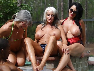 PenisColada - Three Milfs and a Frowning Cock