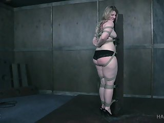 Obese ass blonde plays obedient and fully submissive