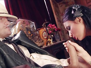 Astonishing with the addition of titillating brunette maid Anissa Kate is fucked brutally by studs