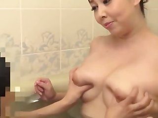 Mature Japanese Simulate Mother Playing With 2 Boys