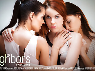 Neighbors Episode 2 - I Want More - Amarna Miller & Frida & Kari A - SexArt