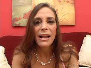 Flexible Milf in white stockings toys her ass winning anal banging