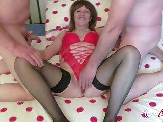 Well elder mature lassie enjoys hardcore sex with line up of handy men