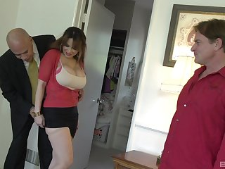 Busty cheating wife Alyssa Lynn fucked by her husband's friend