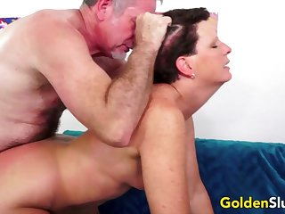 Hot and horny old women encircling hard dicks inside their meaty pussy and succeed in fucked