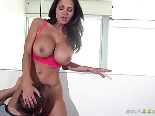 Big tits pornstar Ava Addams loves to be fucked at the end of one's tether two guys