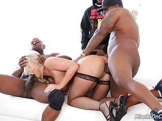 Awesome and curvaceous MILF London River takes double BBC intensively