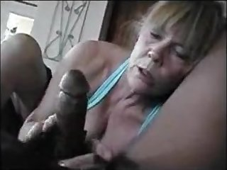 This older lady categorically love to suck black dick
