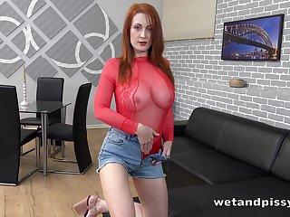 Redhead named Isabella Lui desolate feels awesome masturbating herself