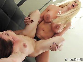 Alura Jenson and Brandie Mae lesbian porn flick