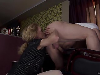Hardcore pussy and ass indoctrination between a kinky guy and a dirty daughter