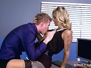Inconsolable Kleio Valentien misbehaves via in-office liaison