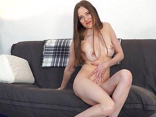 Libellous of age slut Bridget Flash takes off her clothes more masturbate
