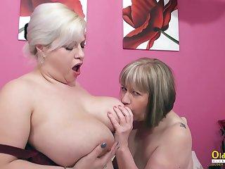 OldNannY Big Titted Mature Lesbians Eating Slit