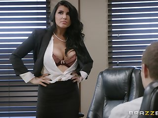Check out stunning MILF Romi Rain's amazing office banging