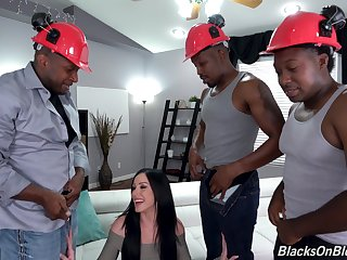 Butt fucked by the black stallions